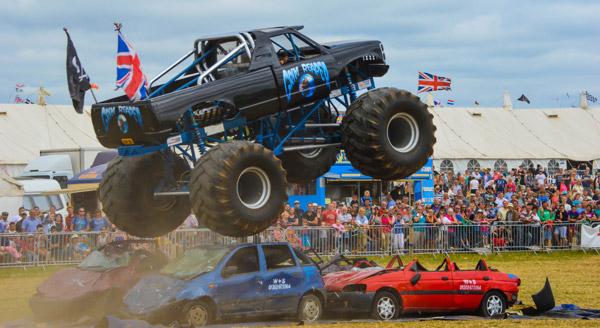 monster truck at dorset steam fair